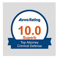 10.0 Superb Avvo Rating - Top Attorney Criminal Defense