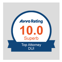 10.0 Superb Avvo Rating - Top Attorney DUI